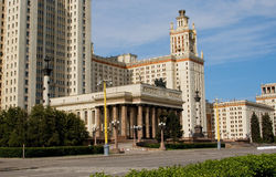 MSU view 3. A view of the Moscow State University on a sunny day Stock Photo