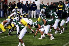 MSU vs Michigan Royalty Free Stock Photography