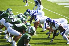 MSU vs Northwestern Football Royalty Free Stock Images