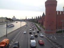 MSW construisant Moscou, le meilleur temps est, a laissé des amis de voyage du ` s Images libres de droits