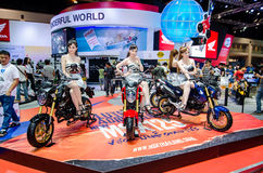 MSX125 motorcycle by HONDA in Thailand motor show. Royalty Free Stock Image