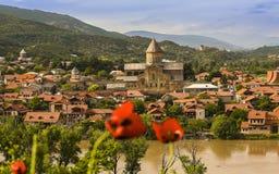 Msxeta Христианский монастырь в Georgia стоковое изображение rf