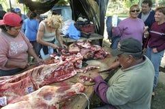 Msza mięśni narządzanie argentyńczyka pracownicy zdjęcia stock