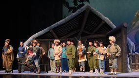 "Mszalna Peking opera ""Taking Tygrysiego Montain Strategy† zbiory"