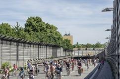 Mszalna rower demonstracja ADFC Berlin 2017 Zdjęcia Royalty Free