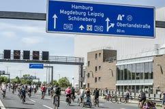 Mszalna rower demonstracja ADFC Berlin 2017 Obraz Royalty Free