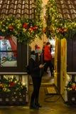 Mszalni gody mieszkanowie na dekorować i iluminujący Zdjęcia Royalty Free
