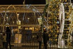 Mszalni gody mieszkanowie na dekorować i iluminujący Zdjęcie Stock