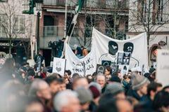 Mszalny jedność wiec trzymający w Strasburg podąża niedawnego terrorysty a Zdjęcia Stock