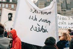 Mszalny jedność wiec trzymający w Strasburg podąża niedawnego terrorysty a Zdjęcie Royalty Free