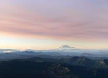 Mt亚当斯鸟瞰图 库存照片