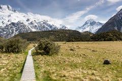 Mt厨师国家公园,新西兰看法  图库摄影