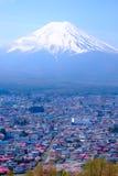 Mt富士和在日本春季(日本Cal的樱花 免版税库存照片