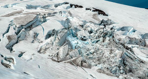 Mt敞篷俄勒冈-艾略特冰河icefall 免版税库存图片