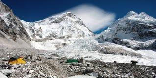 Mt珠穆琅玛基本阵营看法  库存照片