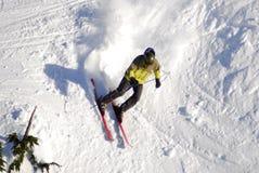 Mt的空中图象 华盛顿高山滑雪胜地,温哥华岛, BC,加拿大 库存图片