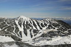 Mt的空中图象 华盛顿, BC,加拿大 库存照片
