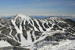 Mt的空中图象 华盛顿, BC,加拿大 免版税图库摄影