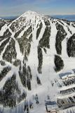 Mt的空中图象 华盛顿, BC,加拿大 免版税库存图片