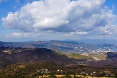 从Mt的顶视图 Omuro,伊豆半岛 库存照片