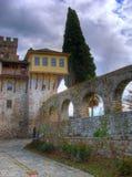 Mt的Athos Stavronikita修道院 图库摄影