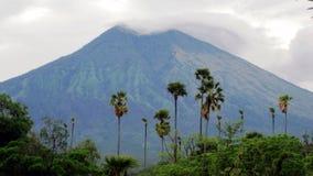 Mt阿贡巴厘岛 库存图片