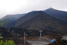 Mt. Ätna, Sizilien lizenzfreies stockfoto