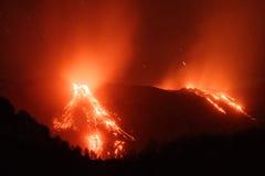 Mt Вулкан Этна, Сицилия, Италия Стоковые Изображения