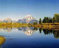 Mt Загиб Moran и Oxbow Стоковые Фото