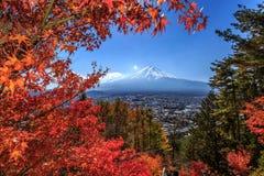 Mt заход солнца fuji mt стоковые изображения