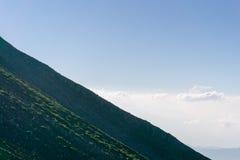 Mt 上升的富士,下降的吉田足迹 免版税图库摄影