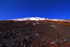Mt 从第6串驻地吉田足迹山梨县日本的富士 库存图片