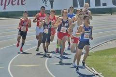 Mt 囊传递2016田径比赛, Men' s英里奔跑 免版税库存图片