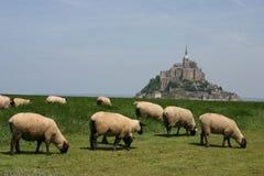 Mt.圣米歇尔,诺曼底,法国 免版税库存照片
