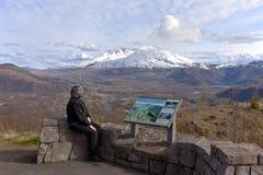 Mt 在日落的St海伦的视图 库存照片