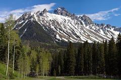Mt 在1月胡安山的Sneffels 库存照片