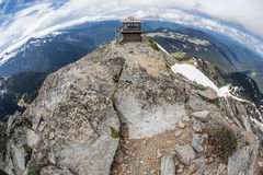 Mt 在Mt的Freemont监视 更加多雨的国家公园,华盛顿 库存图片