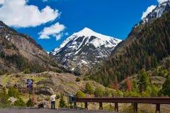 Mt 在Ouray上的Sneffels 免版税图库摄影