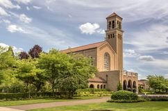 Mt 天使修道院和地面俄勒冈 库存照片