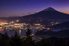 Mt 富士和Kawaguchiko 免版税图库摄影