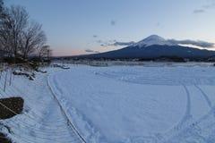 Mt 富士在冬天,日本 免版税库存图片