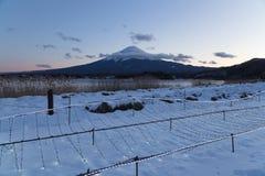Mt 富士在冬天,日本 免版税库存照片