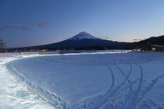 Mt 富士在冬天,日本 图库摄影