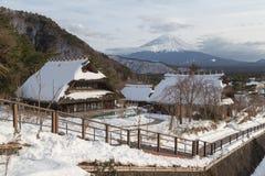 Mt 富士在冬天,日本 库存照片
