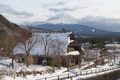 Mt 富士在冬天,日本 免版税图库摄影