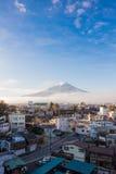 Mt 富士山在秋天 免版税图库摄影