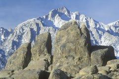 Mt.惠特尼和阿拉巴马小山,加州 库存图片