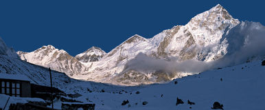 Mt 珠穆琅玛范围 免版税库存照片