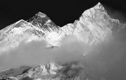 Mt 珠穆琅玛& Nuptse,尼泊尔 库存图片