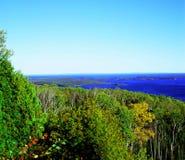 Mt.约瑟芬在苏必利尔湖俯视 库存图片